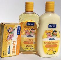 Shampoo (210 ml), condicionador (210 ml) e sabonete da Turma da Xuxinha- kit chá de bebê - Baruel