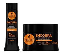 Shampoo 300ml E Máscara 250g Haskell Encorpa Cabelo Engrossa -