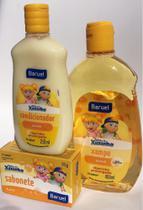 Shampoo (400 ml), condicionador (210 ml) e sabonete Turma da Xuxinha- kit chá de bebê - Baruel
