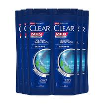 Shampoo Anticaspa Clear Ice Cool Menthol 400Ml - 6Un -