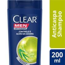 Shampoo Anticaspa Clear Men Controle e Alívio da Coceira 200ml -