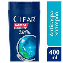 Shampoo Anticaspa Clear Men Ice Cool Menthol 400mL -