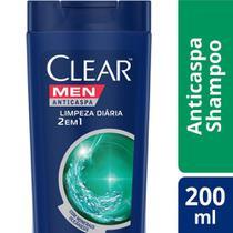 Shampoo Anticaspa Clear Men Limpeza Diária 2 em 1 200ml -
