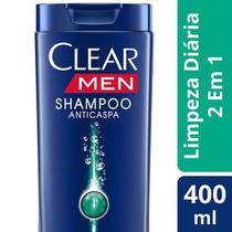 Shampoo Anticaspa Clear MEN Limpeza Diária 2 em 1 com 400ml - Unilever