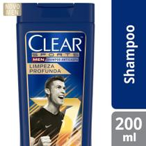 Shampoo Anticaspa Clear Men Limpeza Profunda 200ml -
