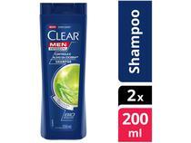Shampoo Clear Anticaspa - Controle e Alívio da Coceira 200ml 2 Uunidades