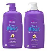 Shampoo + Condicionador Aussie Mega Moist 778 Ml (kit) -