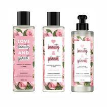 Shampoo Condicionador Creme Pentear Love Beauty Planet Rosas - Love Beauty And Planet