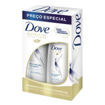Shampoo + Condicionador Dove Reconstrução Completa para Cabelos Danificados 400ml+200ml -
