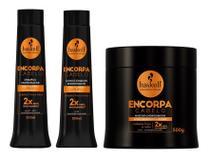 Shampoo Condicionador e Máscara 500ml Haskell Encorpa Cabelo -