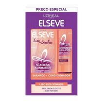 Shampoo + Condicionador Elseve Liso dos Sonhos 375ml+170ml Preço Especial -
