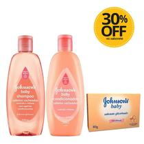Shampoo + Condicionador Johnsons Baby Cabelos Cacheados 200ml Ganhe 30% Off No Sabonete -