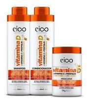 Shampoo Condicionador Máscara Eico Vitamina D Hidratação - Eico Cosméticos