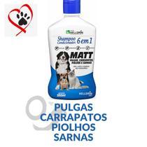 Shampoo Condicionador para Cachorros Gatps 6x1 Anti Pulgas Sarna Carrapatos 500ml Kelldrin -