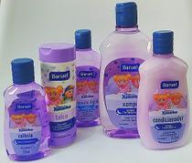 Shampoo, condicionador, sabonete líquido, colônia e talco- Kit chá de bebê Turma da Xuxinha - Baruel