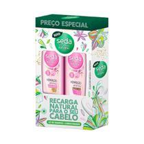 Shampoo + Condicionador Seda Recarga Natural Hidratação Antinós com 325ml cada Preço Especial -