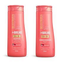 Shampoo e Condicionador Bio Extratus +Brilho Hidrata Alinha -