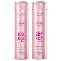 Shampoo e Condicionador de Quartzo Boca Rosa Hair 250ml Cadiveu Essentials - C/2 Itens -