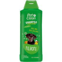 Shampoo e Condicionador Filhotes 2 em 1 para Cães E Gatos 700 ml Peles Delicadas Pet Clean -