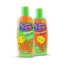 Shampoo E Condicionador Laranja Neon 200ml - Beauty Slime -