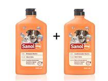Shampoo e Condicionador Neutro para Cachorro e Gato Sanol Dog 500ml (Não agride Pele e pelagem dos animais) -