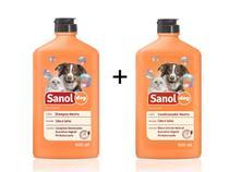 Shampoo e Condicionador Neutro Para Cachorro Não Agride A Pele - Sanol
