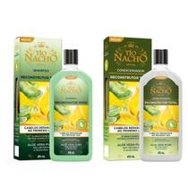 Shampoo e Condicionador Reconstrutor Total Tio Nacho 415ml -