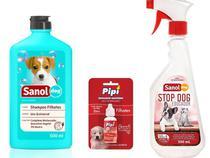Shampoo Filhote + Atrativo Canino Xixi Sim + Educador Sanitario Stop Dog - Sanol