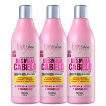 Shampoo Forever Liss Desmaia Cabelo 500ml - Kit com 3 Unidades - Forever Liss Professional