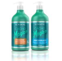 Shampoo Funcional 500ml + Creme Modelador 500ml Cacho Mágico - Lowell -
