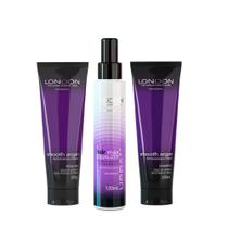 SHAMPOO + MASC ARGAN PARA CABELOS SECOS  + MAX EQUALIZER Leave-in - London The Evolution Of Hair