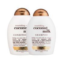 Shampoo OGX Coconut Milk 385ml e Condicionador OGX Coconut Milk 385ml -