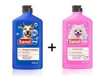 Shampoo Para Cachoro Anti Pulga + Condicionador Revitalizante Sanol Dog -