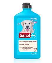 Shampoo para Cachorro Sanol pêlos claros 500ml -