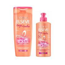 Shampoo Salvador 200ml + Creme Anti-Corte Sem Enxágue 250ml - Elseve Longo dos Sonhos Loréal Paris Kit C/2 Itens -