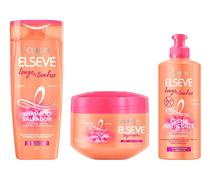 Shampoo Salvador 200ml + Creme Milagroso 300g + Creme Anti-Corte 250ml - Elseve Longo dos Sonhos Loréal Paris Kit C/3 -