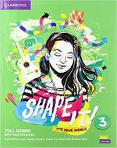 Shape it! 3 full combo students book and workbook with practice extra - Cambridge University