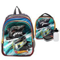 Shark Hot Wheels Kit Mochila com Lancheira - Sestini 065247 -
