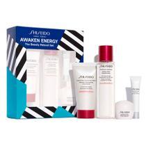 Shiseido Ginza Tokyo Awaken Energy Kit  Creme facial + Creme para olhos + Espuma de Limpeza + Balanceador -