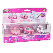 Shopkins Cutie CARS KIT com 3 Bulecar LE Macaron e Bugueçucar DTC 5101 -