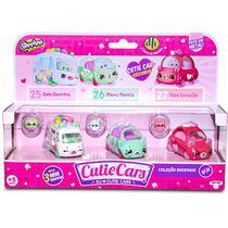 Shopkins Cutie Cars Kit Com 3 Unidades Dtc SORTIDO -