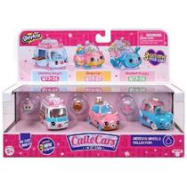 Shopkins Cutie CARS KIT com 3 Vandobolo Carranel e Bugue Buque DTC 5101 -