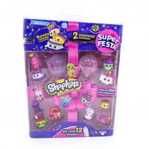 Shopkins Série 7 Super Festa - Blister com 12 Shopkins - DTC -