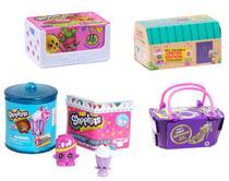Shopkins Super Kit com 4 Cestinhas Séries Variadas - Dtc