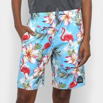 Short Cyclone Longo Stretch Tropical Feminino