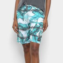Short Cyclone Stretch Tropical Feminino