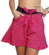 Short Feminino Adulto Godê Pink Racana - RAC5007-PK -