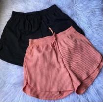 Short feminino canelado moda - Própria
