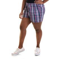 Short Feminino Plus Size Sarja Fio Tinto 51837 - Konciny Confecções
