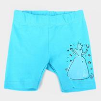 Short Infantil Disney Cinderela Feminino -